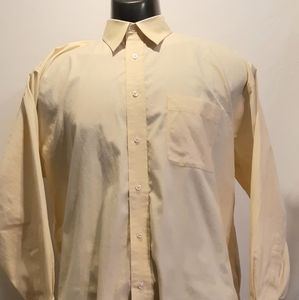 Joseph & fiess mens button up casual, pale yellow